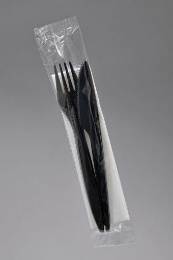 widelec - nóż czarny